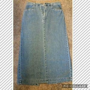 Ladies Long Lee Denim Skirt